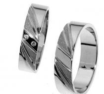 Pretis Zlatý snubní prsten Gems Line, 436-0301_0302