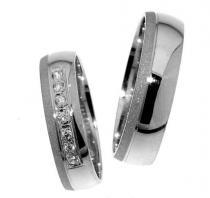Pretis Zlatý snubní prsten Gems Line, 436-0315_0316