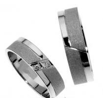 Pretis Zlatý snubní prsten Gems Line, 436-0375_0376 z bílého zlata