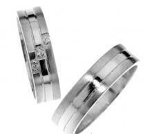 Pretis Zlatý snubní prsten Gems Line, 436-0211_0212 z bílého zlata