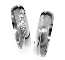 Pretis Zlatý snubní prsten Gems Line, 436-0181_0182 z bílého zlata