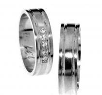 Pretis Zlatý snubní prsten Gems Line, 436-0191_0192 z bílého zlata