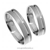 Pretis Zlatý snubní prsten Gems Line, 436-0122_0122 z bílého zlata