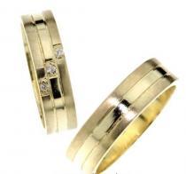 Pretis Zlaté snubní prsteny Magic ze žlutého zlata