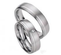 Pretis Zlatý snubní prsten GEMS EXCELENT, 206-207 z bílého zlata