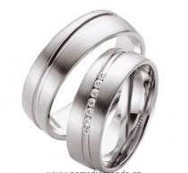 Pretis Zlatý snubní prsten GEMS EXCELENT, 204-205 z bílého zlata