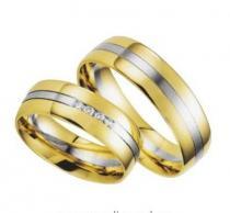 Pretis Zlatý snubní prsten GEMS EXCELENT, 200-201 ze žlutého a bílého zlata