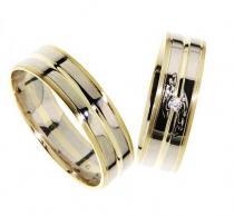 Pretis Zlatý snubní prsten GEMS EXCELENT, 436-0231_232 ze žlutého a bílého zlata