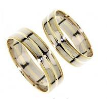 Pretis Zlatý snubní prsten GEMS EXCELENT, 436-0232_0232 z bílého a žlutého zlata