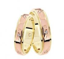 Pretis Zlatý snubní prsten GEMS EXCELENT, 431-0625 ze žlutého a červeného zlata