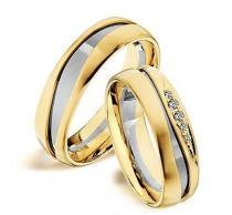 Pretis Zlatý snubní prsten GEMS EXCELENT, 501_502 z bílého a žlutého zlata