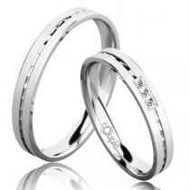 Pretis EGREMNI snubní prsteny bílé zlato C 3 N 21 M