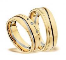 Pretis Zlatý snubní prsten GEMS EXCELENT, 503_504 z bílého a žlutého zlata