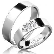 Pretis FLAMENCO snubní prsteny bílé zlato C 5 PCW 2