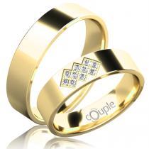 Pretis FLAMENCO snubní prsteny žluté zlato C C 5 PCW 2