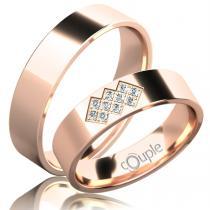 Pretis FLAMENCO snubní prsteny červené zlato C 5 PCW 2