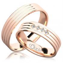 Pretis LOPES snubní prsteny růžové zlato C 5 PCW 5 M
