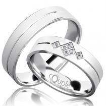 Pretis RENDEZVOUS snubní prsteny bílé zlato C 5 PCW 4 M