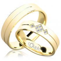 Pretis RENDEZVOUS snubní prsteny žluté zlato C 5 PCW C 5 PCW 4 M