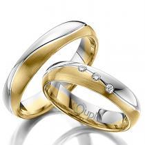 Pretis VARADERO snubní prsteny kombinace žluté a bílé zlato C 4 WN 2 Z-M B