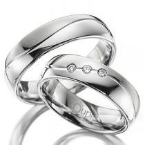 Pretis VARADERO snubní prsteny bílé zlato C 5 WN 2