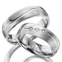 Pretis VARADERO snubní prsteny bílé zlato matované C 5 WN 2 M