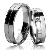 Pretis MAURICIUS snubní prsteny bílé zlato C 5 UE 1