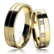 Pretis MAURICIUS snubní prsteny žluté zlato C 5 UE 1
