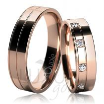 Pretis MAURICIUS snubní prsteny červené zlato C 5 UE 1