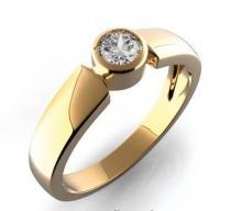 Pretis GEMS zásnubní prsten s diamantem Kleopatra, žluté zlato 381-0125