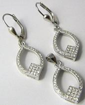 Dámská luxusní stříbrná rhodium souprava se posetá zirkony 030314200001