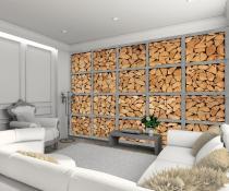 1Wall Dřevěná polena 315x232