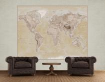 1Wall Geografická mapa světa 158x232