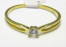 Holan Jaroslav Zásnubní zlatý prstýnek ze žlutého zlata 585/1,07gr H353
