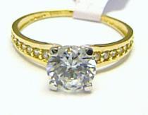 Holan Jaroslav Luxusní zásnubní prsten s velkým zirkonem 585/1,79gr H355