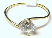 Holan Jaroslav Zásnubní zlatý prsten s velkým zirkonem 585/0,87gr H142