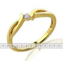 Pretis Luxusní zásnubní zlatý prsten ze žlutého zlata s diamantem briliant - 1,95gr 3810703-0-53-99