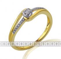Pretis Luxusní zlatý zásnubní prsten posetý diamanty 15ks/0,08ct 3811834-5-52-9
