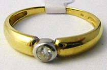 Marcello Diamant zásnubní prsten v kombinaci zlata se zirkonem 585/2,15gr T194