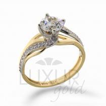 Pretis luxusní zásnubní zlatý prsten v kombinaci zlata 1211107-5-56-1