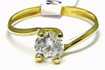 Zlatokov Velký zásnubní prsten s velkým zirkonem 585/1,52gr Z116