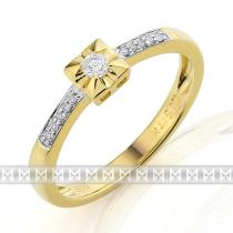 Pretis Zásnubní diamantový prsten ze žlutého zlata 3811287-5-51-99