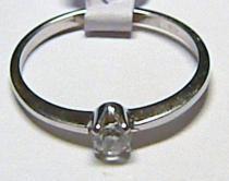 Zlatokov Zásnubní zlatý prsten z bílého zlata se zirkonem 585/1,28gr Z018
