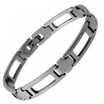 SKALIMAR Pánský silný náramek z chirurgické oceli 316L 311394-2