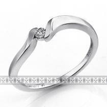 Pretis Zásnubní prsten s diamantem, bílé zlato brilianty 3860689-0-50-99