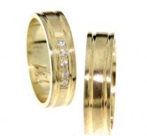 Pretis Elegantní snubní prsteny ze žlutého zlata
