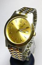 Grovana Pánské zlacené luxusní švýcarské hodinky 1514.1141 se safírovým sklem