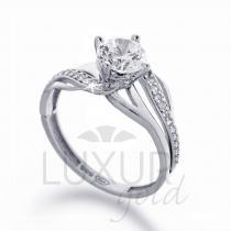 Pretis Zásnubní prsten bílé zlato se zirkonem 1261107-0-53-1