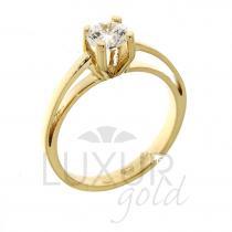 Pretis Luxusní zásnubní prsten žluté zlato se zirkonem 1211011-0-51-1