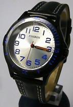 Foibos Chlapecké sportovní černé dětské hodinky 2067.4 s modrými prvky